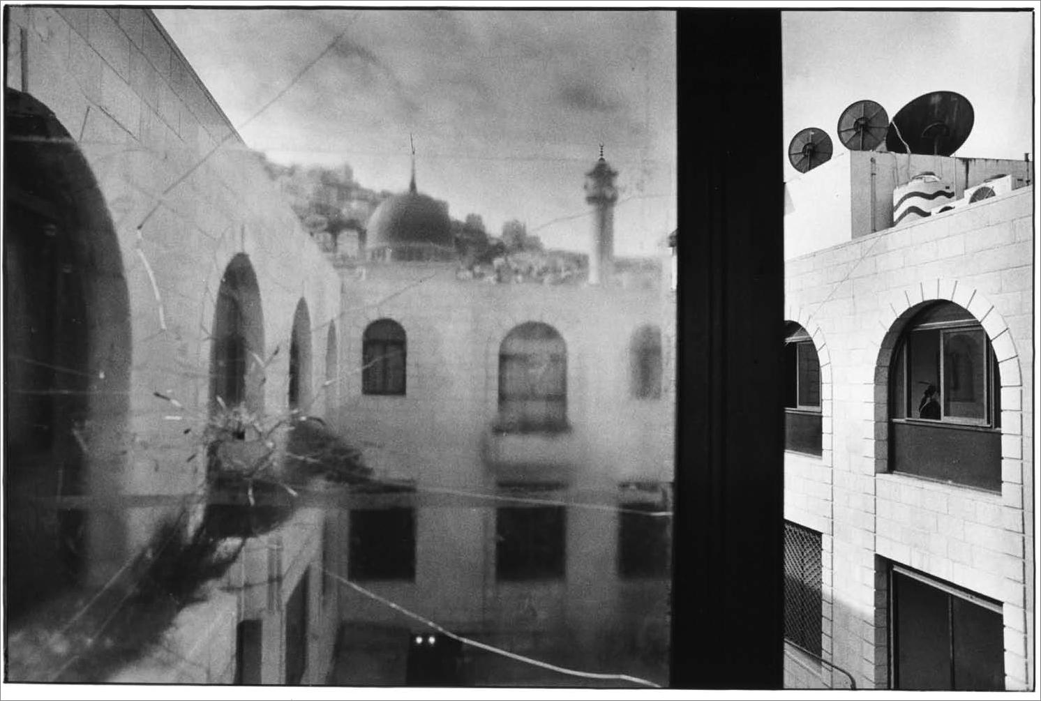 Vue sur la vieille ville de Naplouse, Palestine, photo argentique, Devals