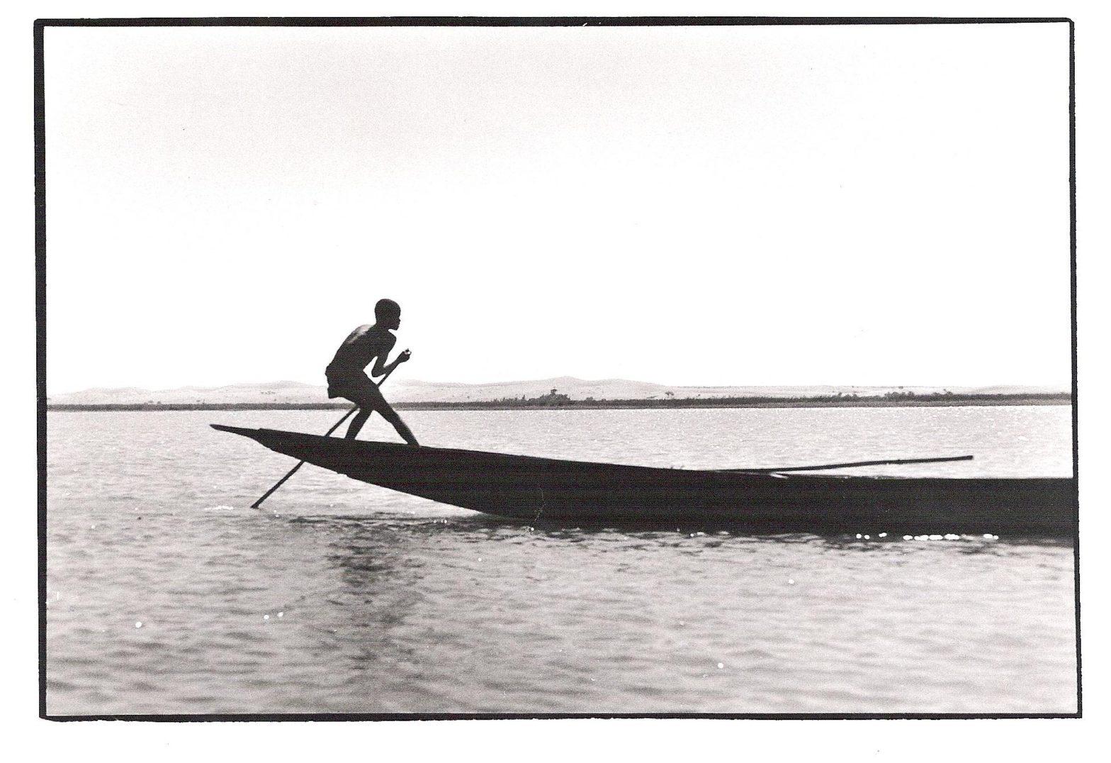 Le piroguier, Mali, photo noir et blanc, Jean-Pierre Devals