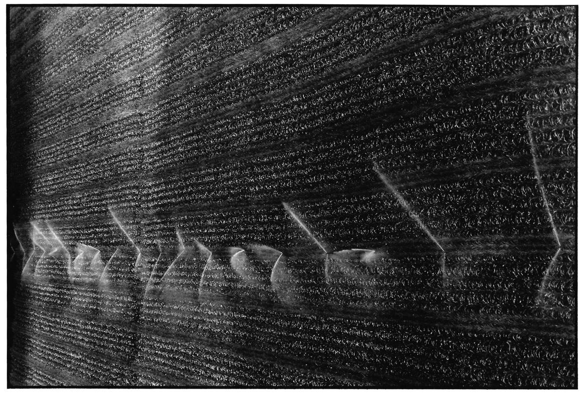 Calligraphie de jets d'eau, photographies argentiques, Devals