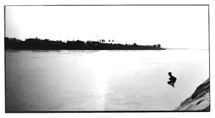 Le plongeon, vues photographiques, photo argentique
