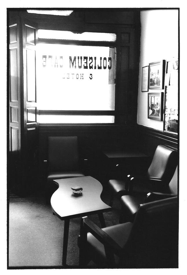 Coliseum café, vues photographiques, photo argentique