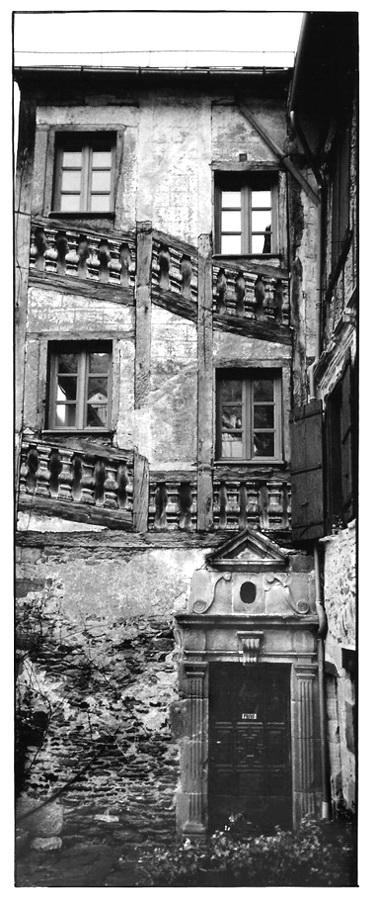 Escalier de façade, photographies argentiques, Devals