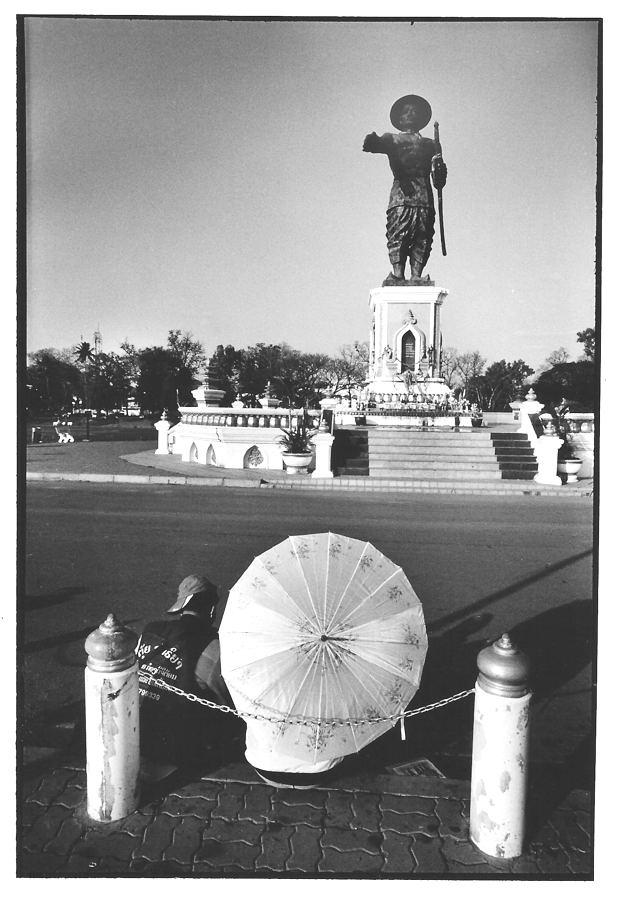 Vientiane, Laos, noir et blanc argentique, Jean-Pierre Devals